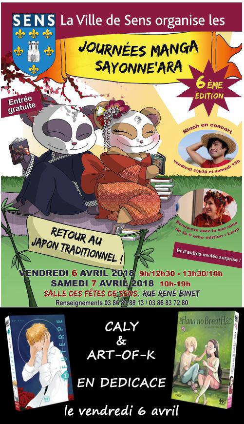 SAYONNE'ARA accueillera Caly et Art-of-K en dédicace le 06 avril 2018