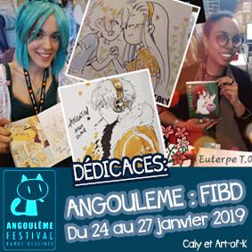 FIBD Angoulême 2019 - Caly et Art-of-K en dédicace sur le stand Pika