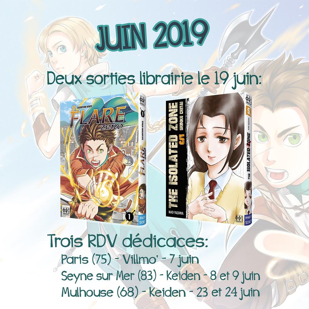 Programme juin 2019 des Editions H2T