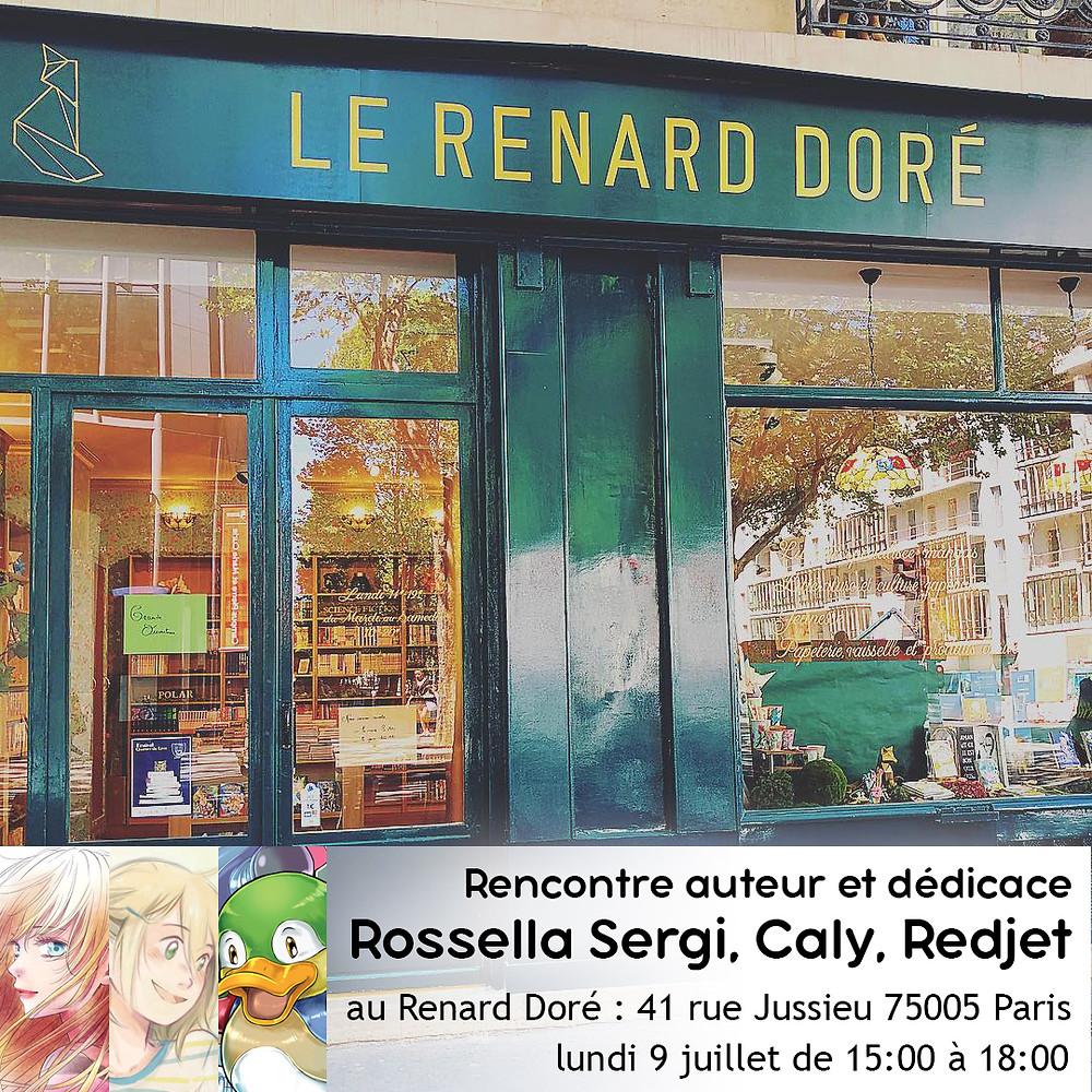 Dédicace des auteurs H2T à la librairie le Renard Doré (Paris)