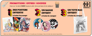 Promos & goodies des Editions H2T - Japan expo 2018