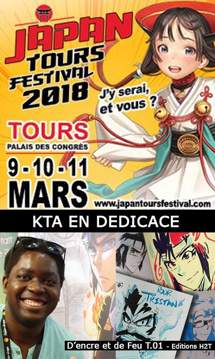 KTA en dédicace à JAPAN TOURS FESTIVAL 2018 pour son manga D'encre et de feu T.01 aux Editions H2T
