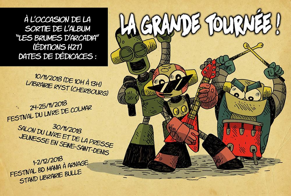 """Dates de dédicace pour """"Les Brumes d'Arcadia"""""""