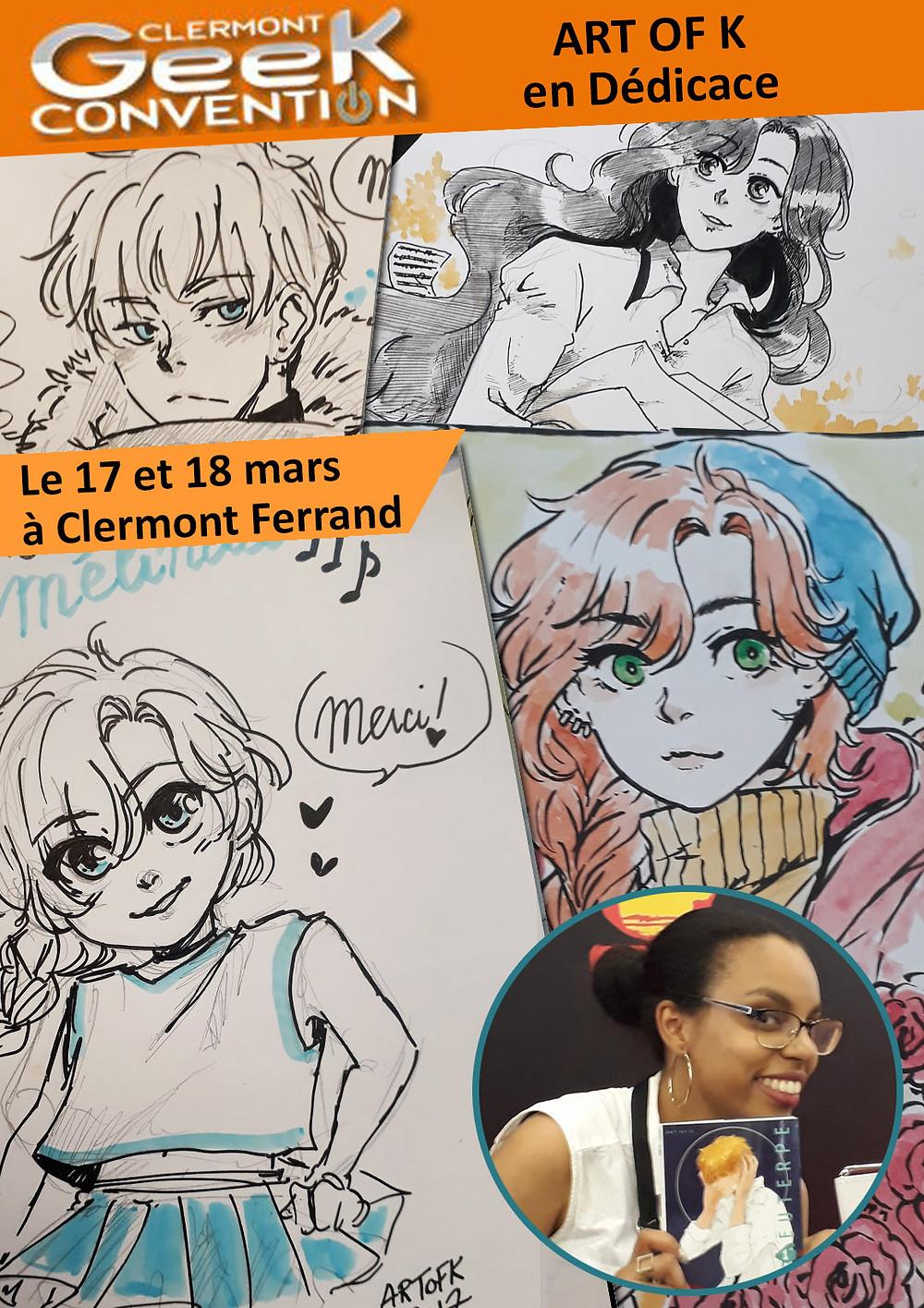 Dédicace de ART of K à Clermont-Ferrand le 17 et 18 mars 2018