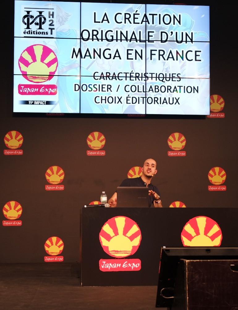 """Conférence des Editions H2T sur """"La création originale de manga en France"""" - Japan expo 2018"""