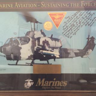 Honored by U.S. Marines at China Lake.