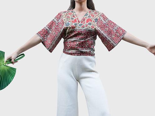 Short Sleeves Silk Top #3
