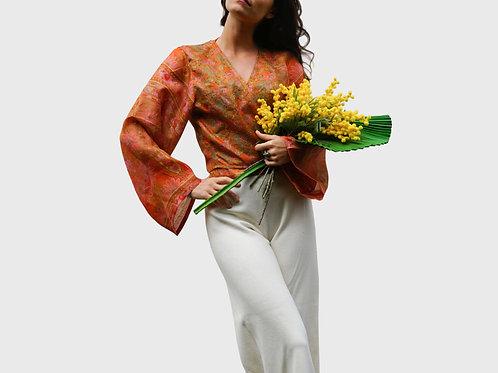 Long Sleeves Silk Top #15