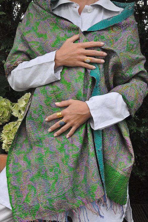 Two sided silk scarf