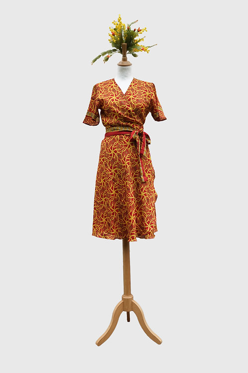 Madhu Wrap Dress #1 S-M & M-L