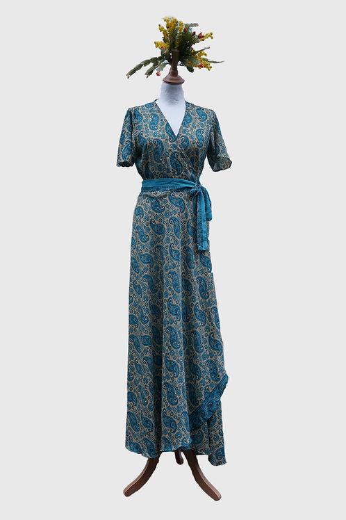 Madhu Wrap Dress long #6 S-M