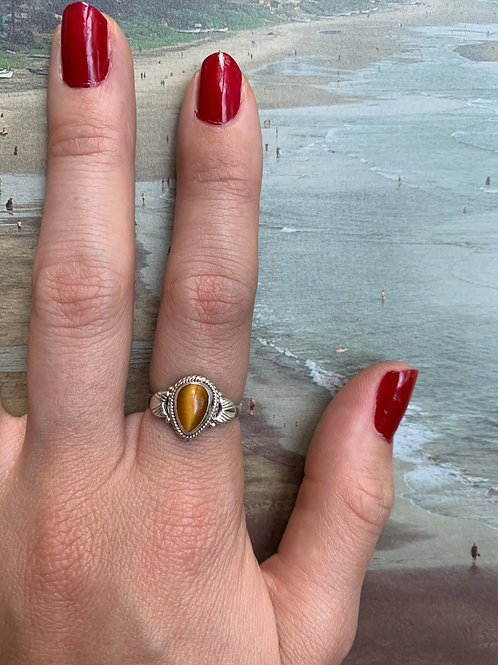 Tiger Eye Ring Small #5