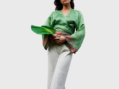 Long Sleeve Silk Top #17