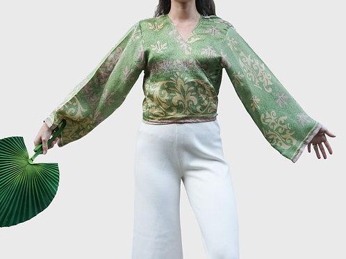 Long Sleeves Silk Top #12