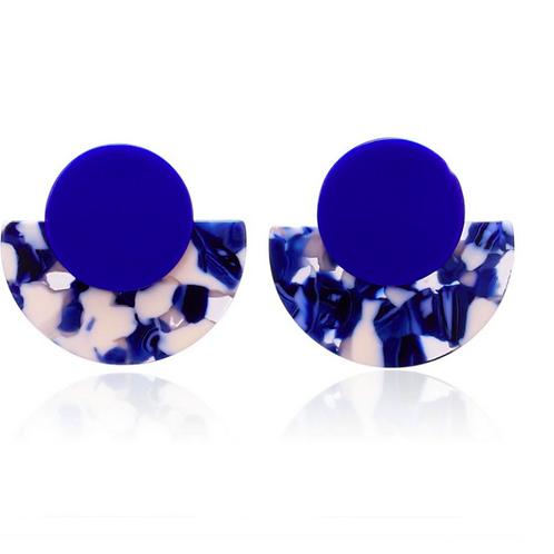 Brincos Geometric Blue