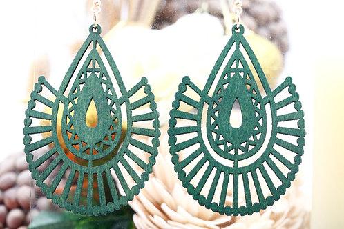 Wood Green Angel Earring