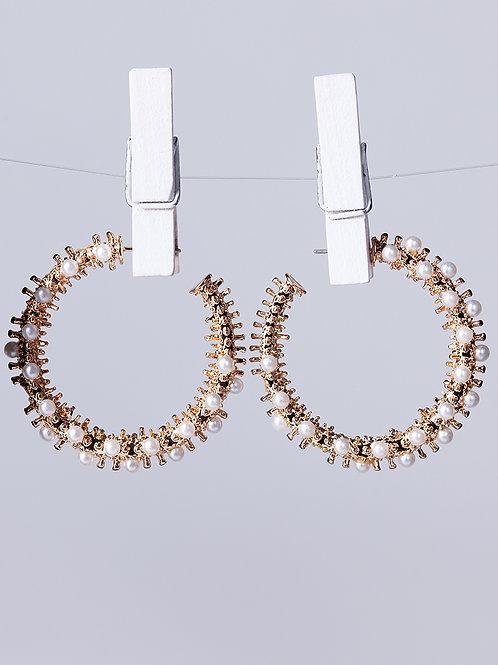 Argolas Pearls Fashion
