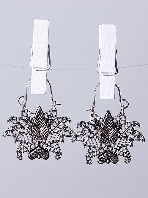 Brincos Mandala Flower (Silver)