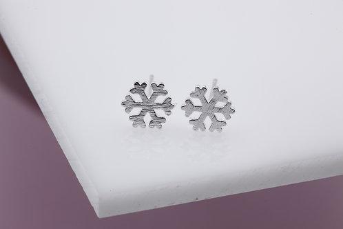 Brincos Prata 925 Snowflake