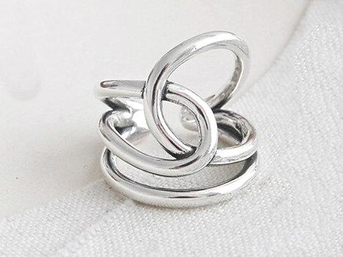 Anel de Prata 925  Laço