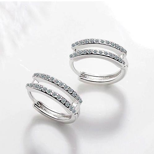 Brincos Prata 925 Cristalli
