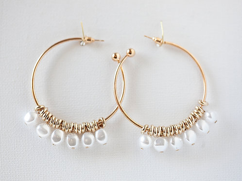 Brincos Gold Litlle Pearls