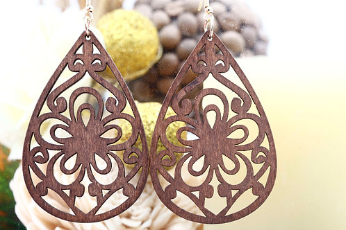 Wood Brown Gio Earring