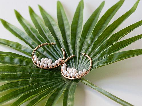 Argolas Gold Pearls