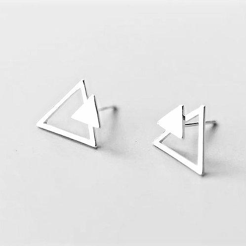 Brincos Prata 925 Triângulos