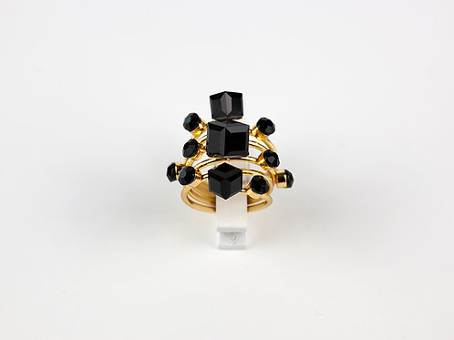 Anel Black Geometric