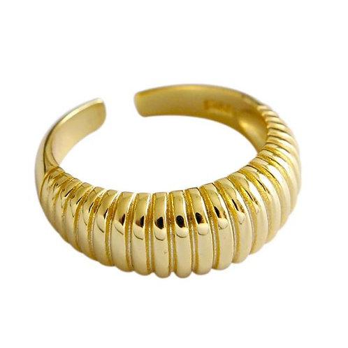 Anel de Prata 925  Dourado Croissant