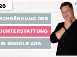 Einschränkung der Berichterstattung bei Google Ads