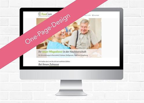 go! Homepages | One-Page-Design incl. Einrichtungsgebühr