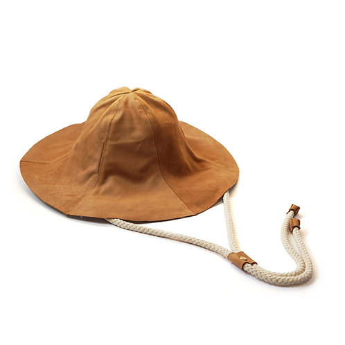 Leather Tulip Hat (Camel)