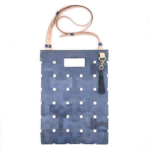 Medium Lock Bag (Grey_Blue)