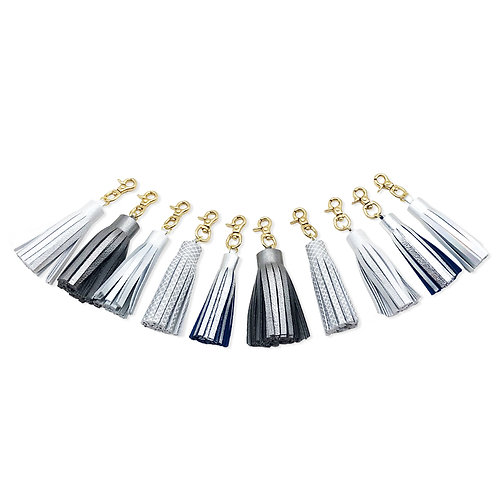 Metallic cyco *One off Tassel Charm