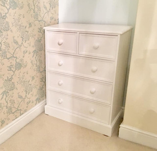 2 over 3 painted chest of drawers