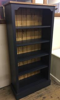Dark coloured 2 tone painted bookcase