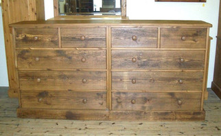 Rustic 10 drawer chest