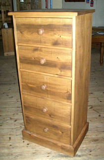 Tall 5 drawer rustic chest of drawers