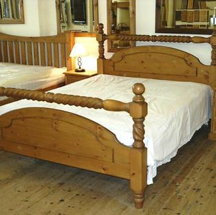 Barley twist Victorian bed