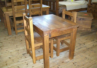 Small rustic table and chairs