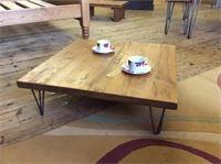 Low hairpin leg coffee table