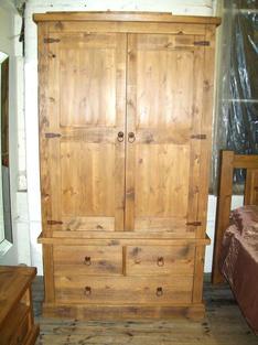 """2 door 3 door rustic wardrobe 42"""" wide"""