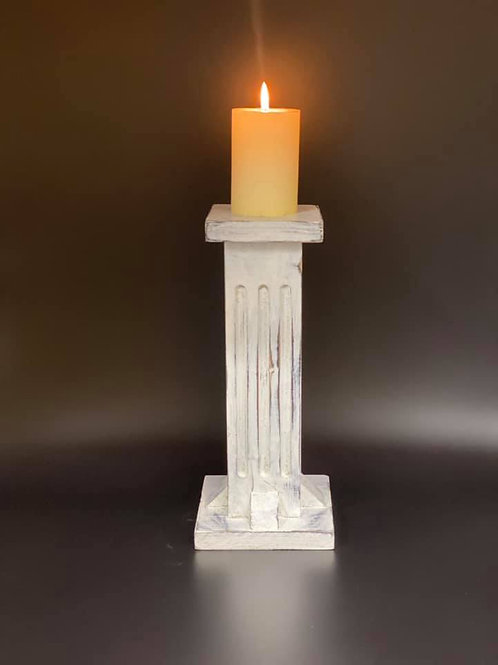 Fluted Column Candle stand 30cm High