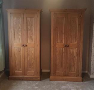 Pair of 2 door wardrobes