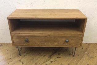 Hairpin leg tv unit with drawer #1