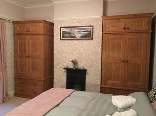 Pair of wardrobes with topboxs