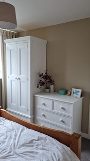 Painted wardrobe and drawers