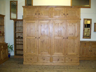 Large wardrobe with a topbox